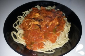 pasta en salsa marinera 1