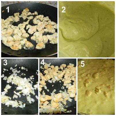 polloen salsa de aguacate