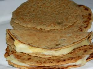 Pancakes de avena, coco y sésamo
