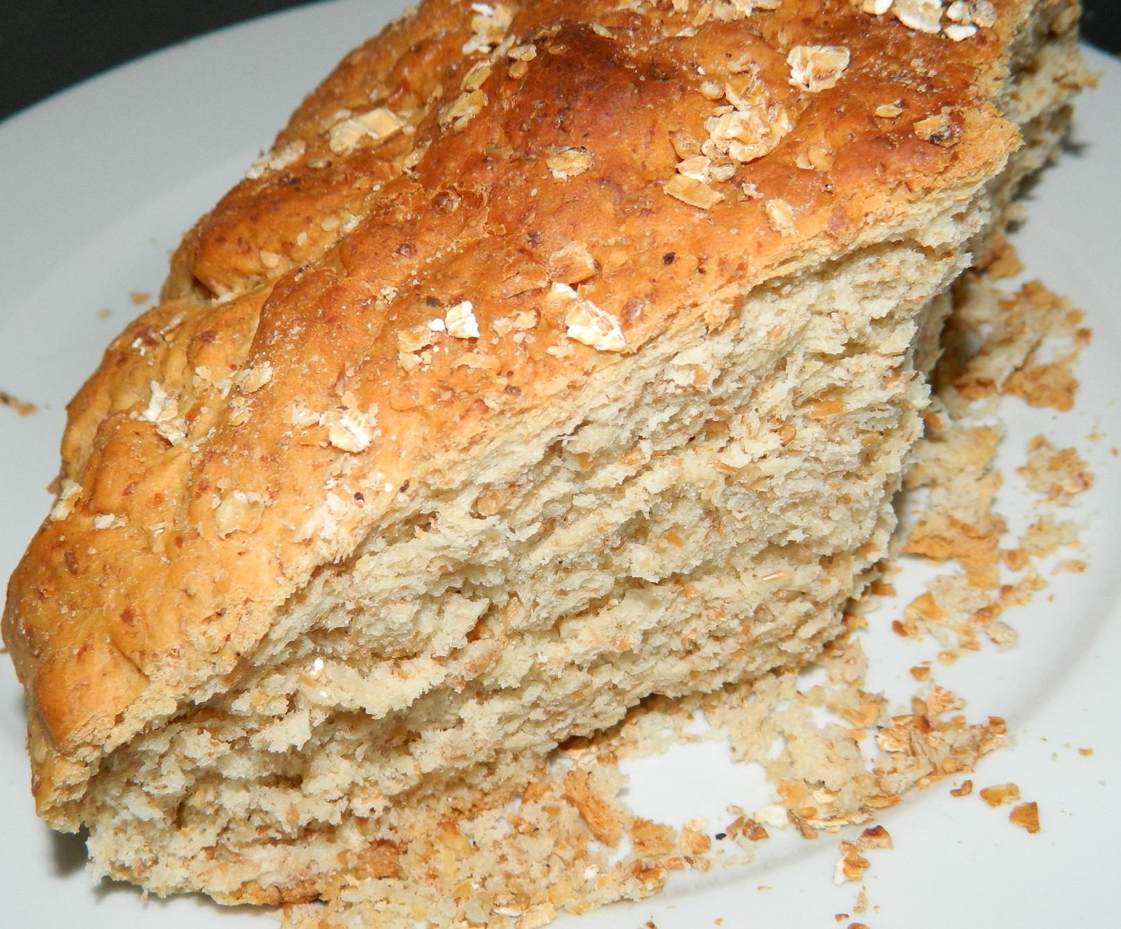 pan integral casero de avena y sésamo