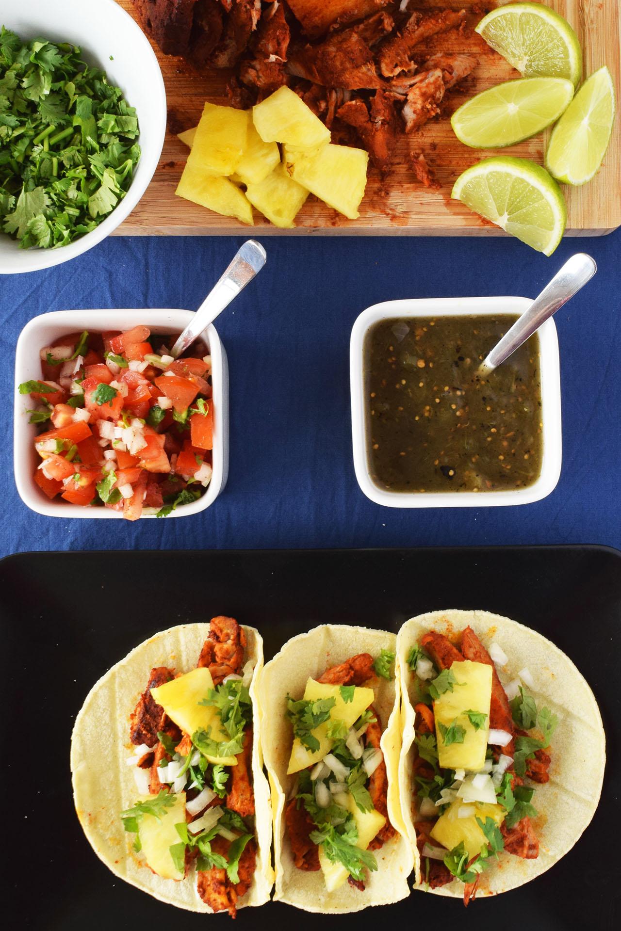 Receta de tacos al pastor receta mexicana recetas abc for Ingredientes para comida