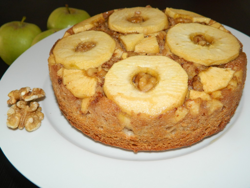 Torta invertida de manzana 8