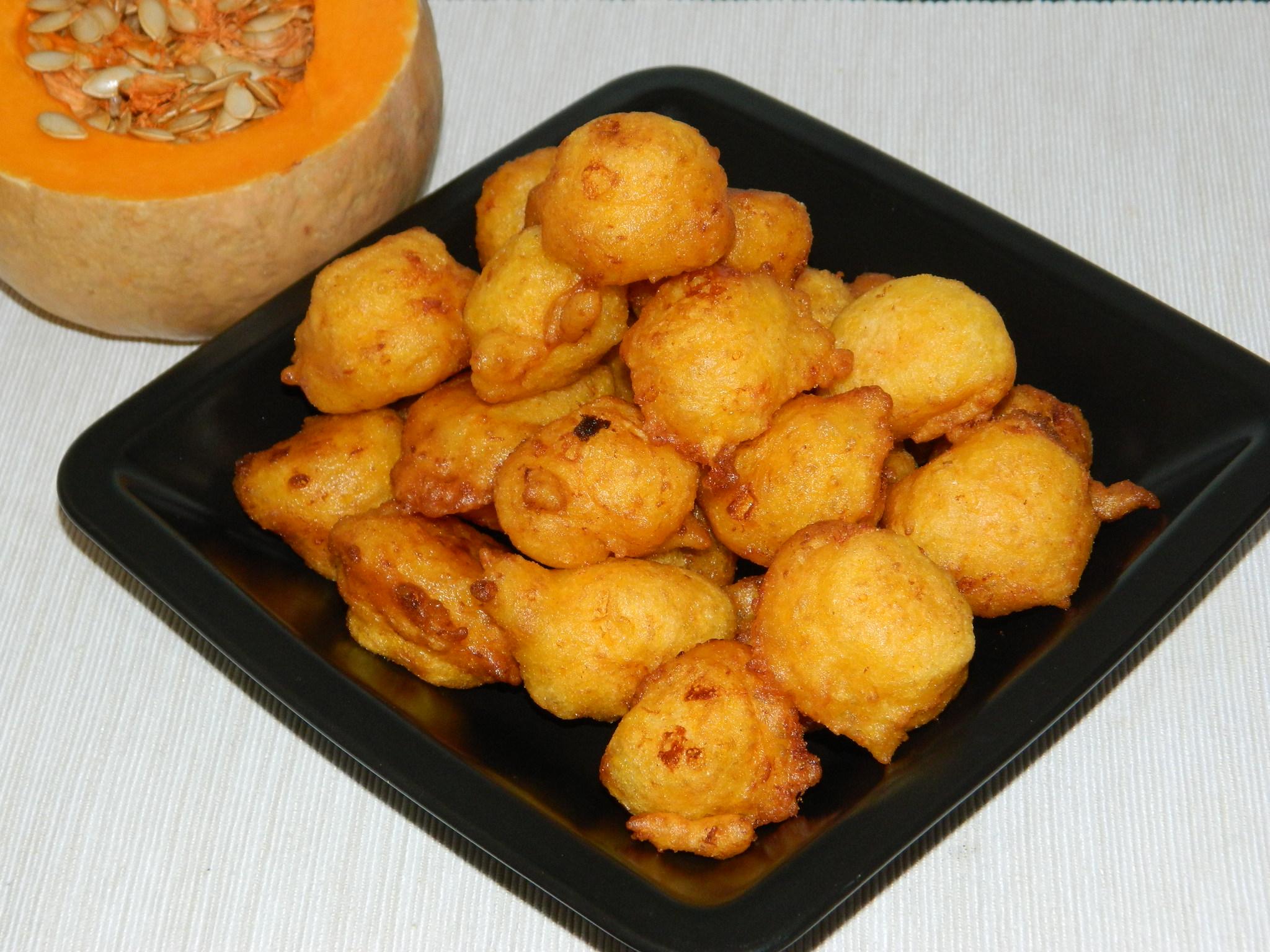 buñuelos valencianos de calabaza