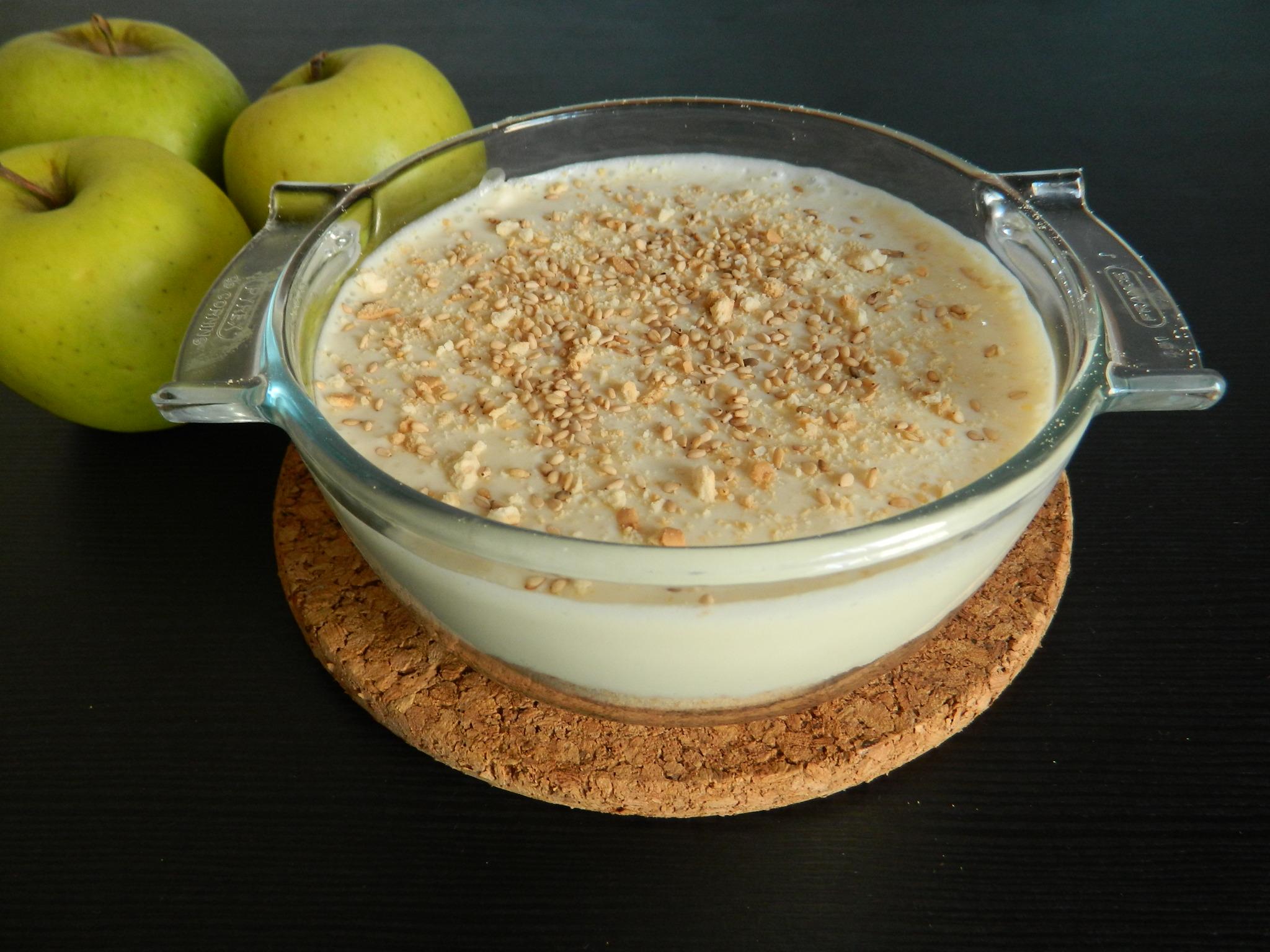 cheesecake fácil de manzana
