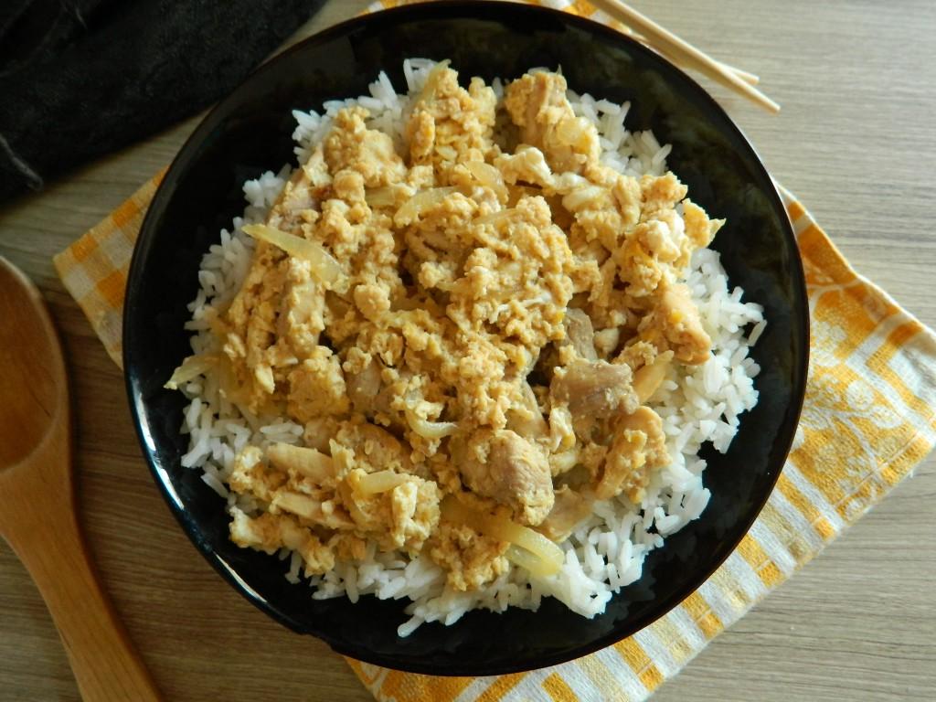 Arroz con pollo y huevo 3