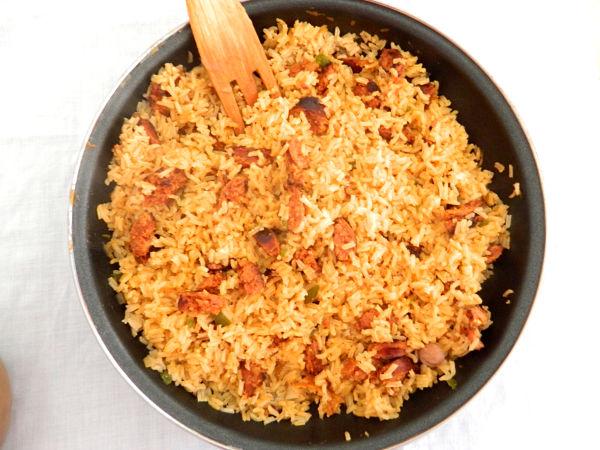 arroz con chorizo 1