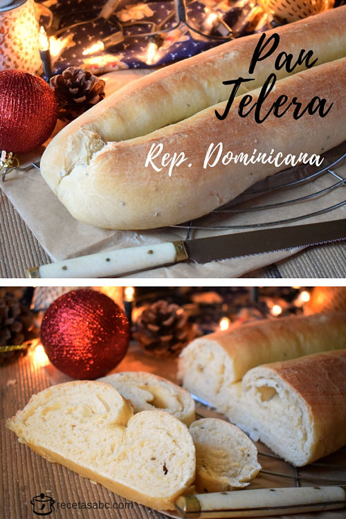 Telera pan navideño dominicano